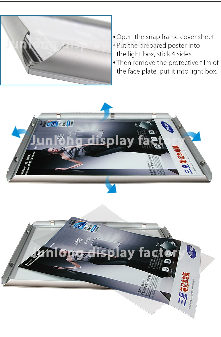 27x40 Black Aluminum LED Light Box Cinema Movie Poster Frame - BEST FEEDBACK
