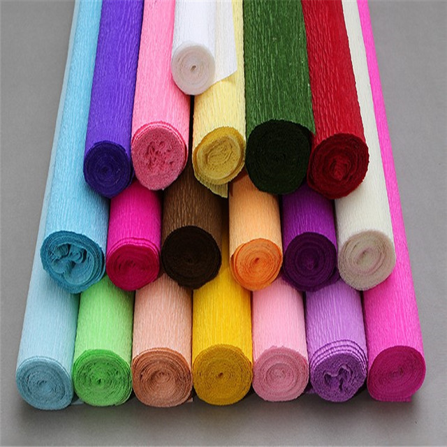 Victor Crafts Hot double sided gift wrapping crepe paper in roll whoesales eco-friendly handmade crepe paper