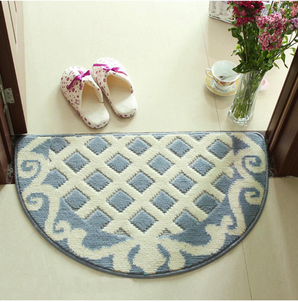icocopark 48x78cm Bedroom Carpet Floor Mat Half round