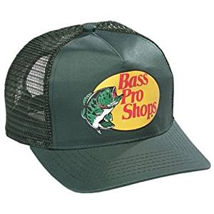 8be772ab Authentic Bass Pro Mesh Fishing Hat - Dark Green, Adjustable, One Size Fits  Most