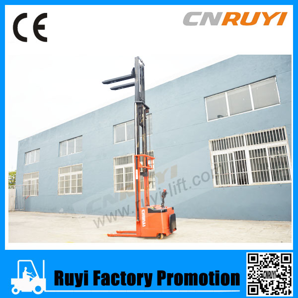Stand-on electric stacker legerity turning top quality parts
