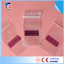 Plastic zip lock pouch with CE certificate