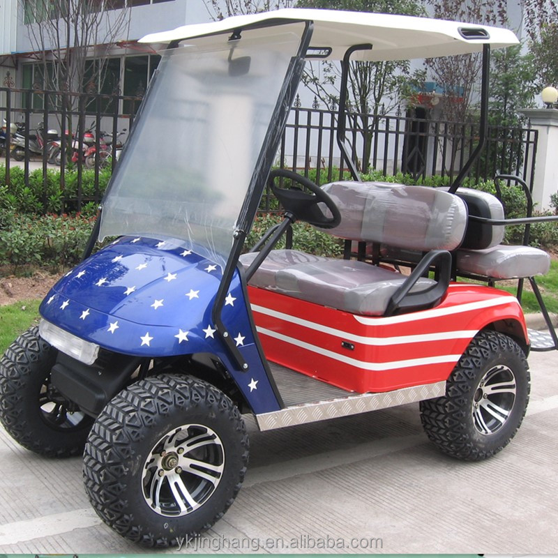 gasoline powered 4 seats off road golf cart for sale