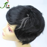Free Shipping Factory Price Wig Caps Short Natural Black Synthetic Wig For Man