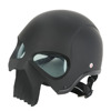 3D DOT Skull Skeleton Half Motorcycle Chopper Biker Cruiser Adult Helmet Shorty