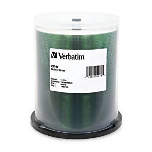 """Verbatim America, Llc - Verbatim 52X Cd-R Media - Silk-Screen Printable - 700Mb - 100 Pack """"Product Category: Storage Media/Optical Media"""""""