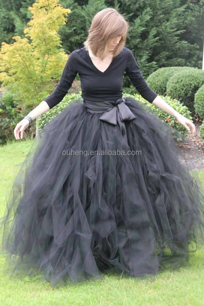 Black Bow Tutu SKirt Woman Party Skirt