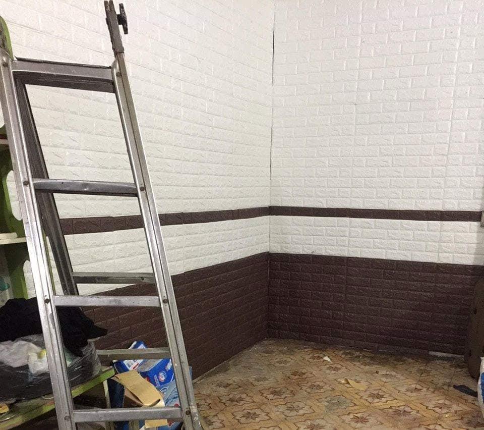 PE Foam 3d wallpaper brick wallpaper 3d wall panel wallpaper 70*77cm brick sticker