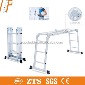 EN131 approved aluminium telescopic ladder aluminum foldable Stepladder, Extension Ladder made in China