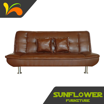 Easy Chair Vintage Leather Sofa Bed Folding Practical Modern Factory Direct