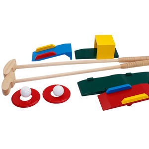 Eco-friendly Materials PP Kid Educational Toy Outdoor Sport Games Golf Set Children Golf Gift