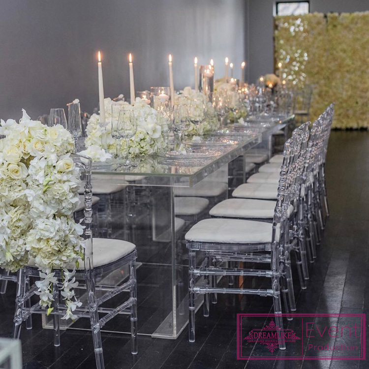 2018 new products clear acrylic dining table for wedding