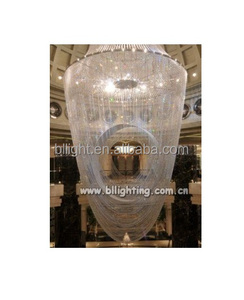 Hotel use project hanging large crystal pendant light