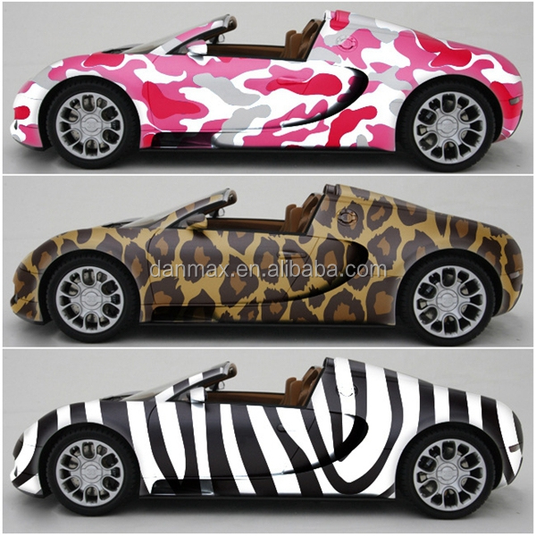 Hot sales colored car decal type 1 5230m roll hydrographic film sticker bomb