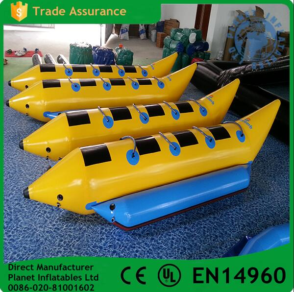 High quality water games inflatable flying fish towable banana boat