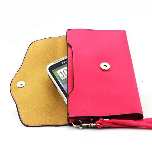 2014 new Bicolor flip wallet leather Housing Case Cover for HTC G13 Wildfire S A510E