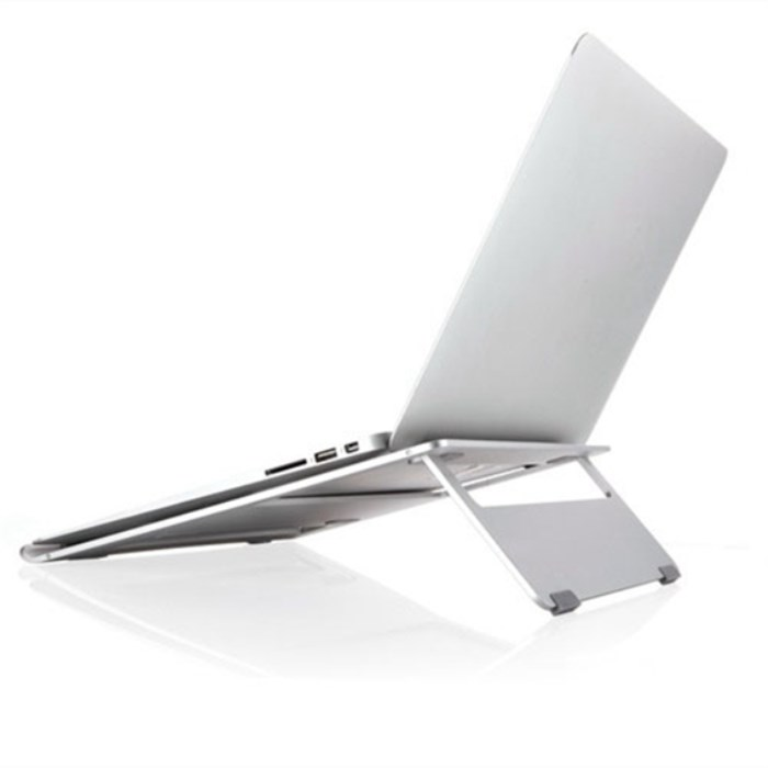 Universal Alloy Aluminum Laptop Phone Stand Holder Bracket Cooling Desk Pad For Macbook Tablet PC Laptop CA4825