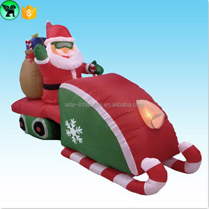 Promotion Outdoor Christmas Event Decoration Christmas Santa With His Lighting Sleigh w01015