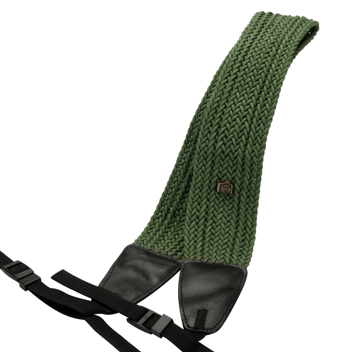 Eggsnow Camera Shoulder Neck Strap Knit Broaden Universal Camera Belt Strap for Women Men All DSLR SLR Nikon Canon Sony Olympus Pentax Samsung-Green