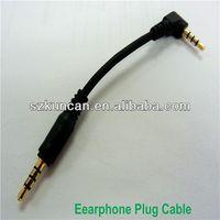 earphone jack 10cm long TRRS plug cable