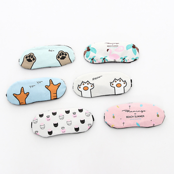 Blinding ice compress eye shield Cartoon cat polyester cotton breathable ice bag eye mask Korean version of cute sleep eye mask