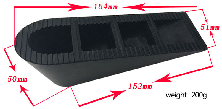 Wholesale factory direct car stopper price sliding rubber door wedge