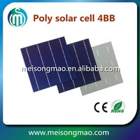 High efficiency 4BB 6inch 18.0% efficiency polycrystalline silicon solar cell price for sale