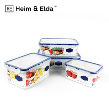 airtight microwave plastic kids lunch box for shcool picnic plastic food container
