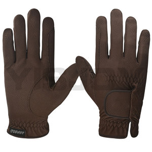 Custom brown leather horse riding gloves,equestrian gloves