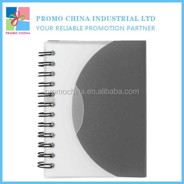 Hot Sale Cheap Small Plastic PP Spiral Notebook For Corporate Gifts