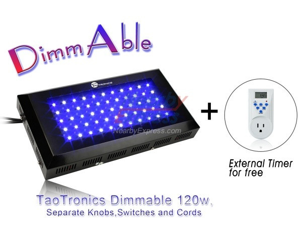 TaoTronics TT-AL09 Blue White Dimmable Blue or White 120W LED Aquarium Light