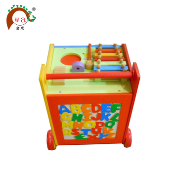 Multi Function Wooden Cube Walker Wagon Or Trolley Toy For Toddler Buy Trolleywagon Toytoddler Toy Product On Alibabacom