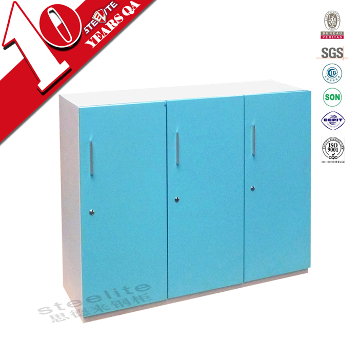 Kids Bedroom Steel Wardrobe Design / Half Height 3 Door Kids Steel Wardrobe  Locker