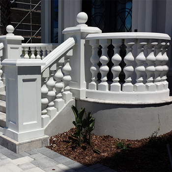 Outdoor Decoration Hunan White Marble Balusters Handrail ...