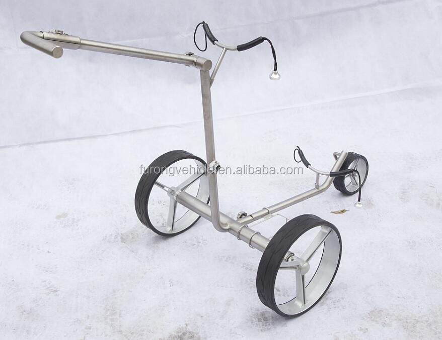handmatige golftrolley, hoogwaardige titanium golftrolley, push-golfcaddy