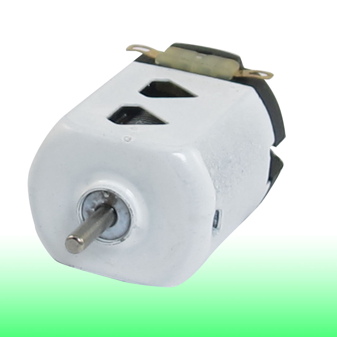 Shaft Diameter 2mm DC 9000RPM 400mA White Black Flat Electric 130 Motor for Four-wheel Car 27mm x 20mm x 15mm (L*W*T)