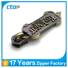 high quality brass or customized metal zipper sliders