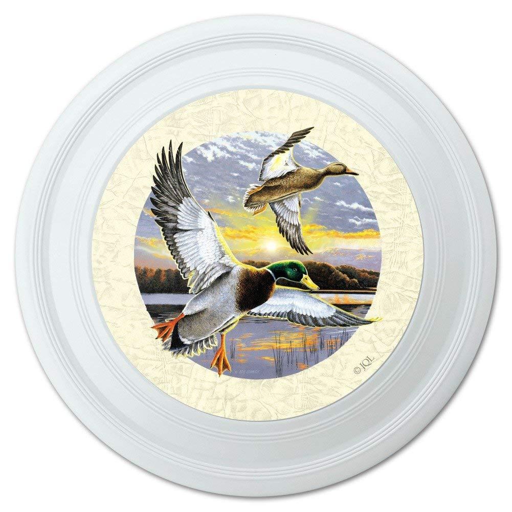 """Mallard Ducks Flying Sunrise Novelty 9"""" Flying Disc"""