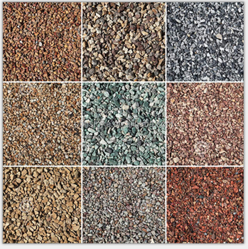 Elegent luxury landscaping colored crushed stone in fujian
