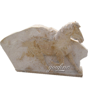Stone Carving Marble Wall Horse Wall Relief