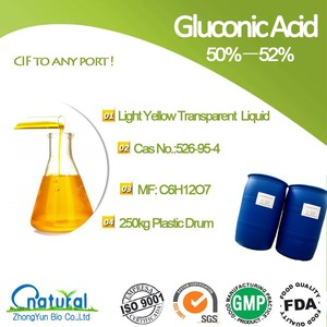 Food additive and chemical grade 50% gluconic acid
