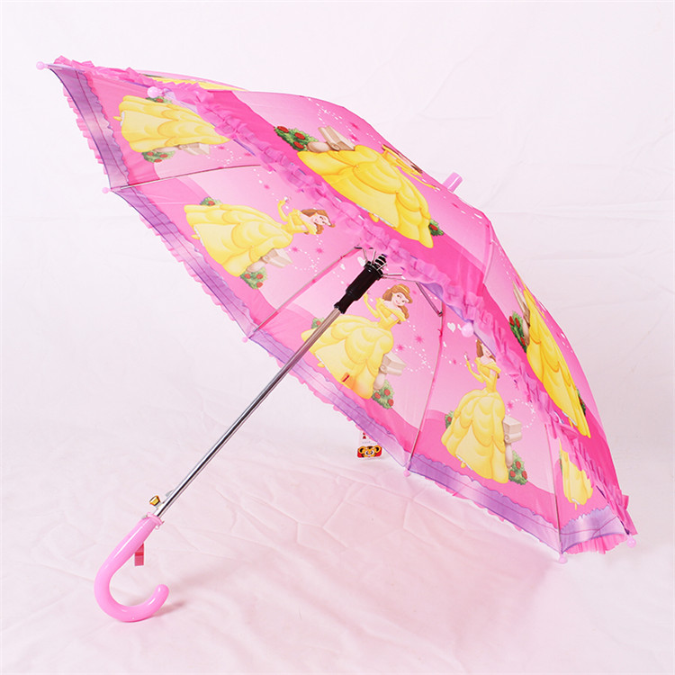 Fashion wholesale commercial rainproof lace kid umbrella for children