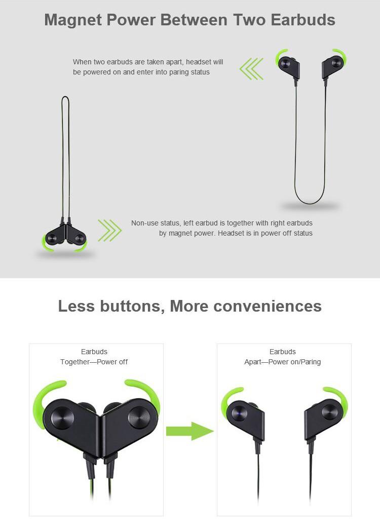 Sport Bluetooth Headset Mini Earbuds V8 Wireless Earphone Noise ...