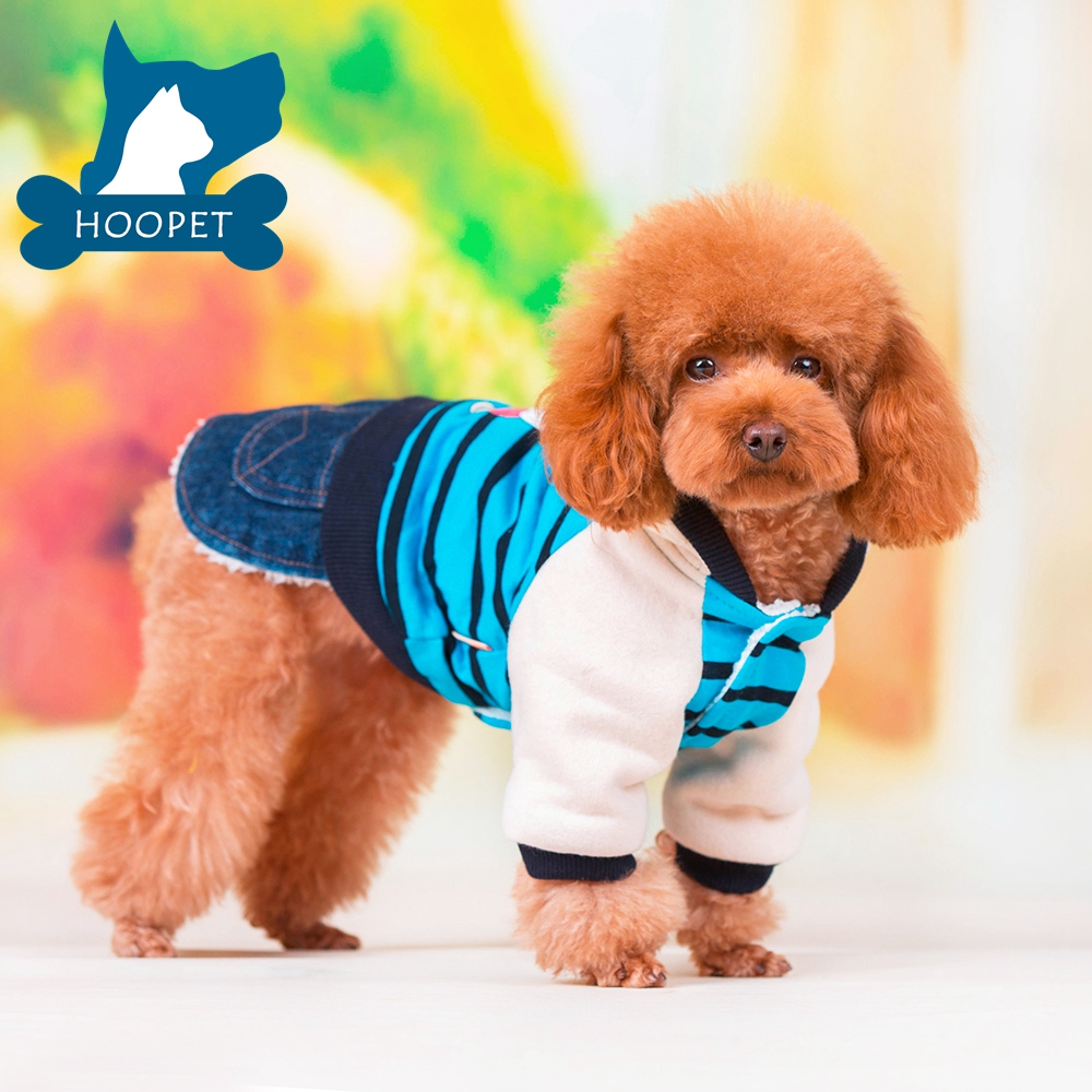 Leisure Pet Bipod Cloth with Jean Pants Easy Wearing Pet Clothes