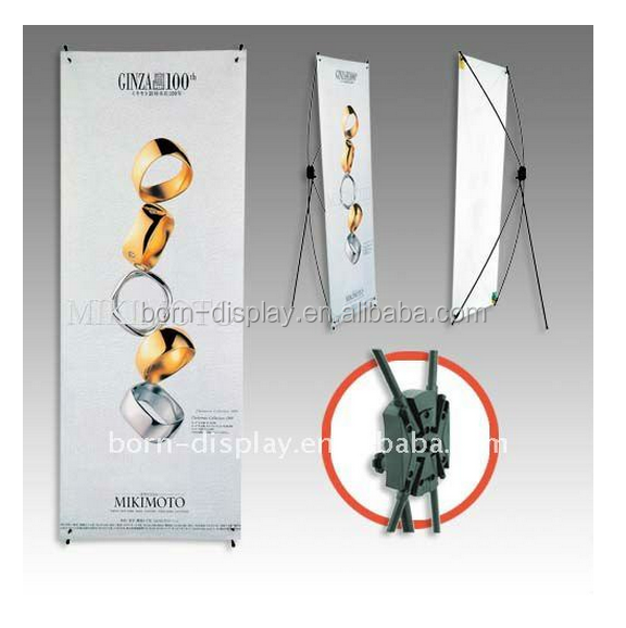 Economical Promotion Advertising 60*160CM Back Base Poles Plastic Fitting Banner Flex Stand