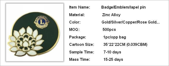 make hot sale high quality glow gift fashion factory gold plated flag badge
