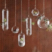 Wholesale handmade hanging series shapes glass vase home decoration