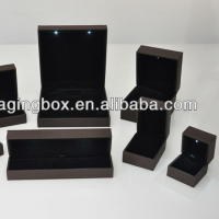 High quality box led jewelry light box display set packaging