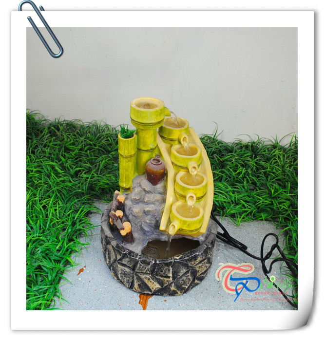 Ornamental Handmade Resin Indoor Waterfall Tabletop Bamboo Fountain For  Homes   Buy Indoor Waterfalls For Homes,Tabletop Fountain,Bamboo Fountain  Product On ...