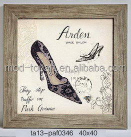 Classicl canvas add ps frame of high-heeled shoes